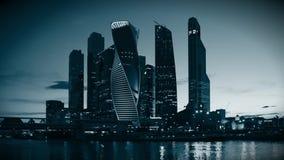 MOSCOU - 4 de agosto de 2016: Centro de negócios do International de Moscou filme