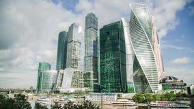 MOSCOU - 28 DE AGOSTO: Lapso de tempo da cidade de Moscou o 28 de agosto de 2017 em Moscou, Rússia Fotos de Stock Royalty Free