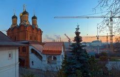 Moscou de ano para ano Fotografia de Stock Royalty Free