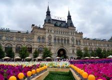 MOSCOU - 21 DE JULHO: Festival da flor no quadrado vermelho em honra do Imagem de Stock Royalty Free