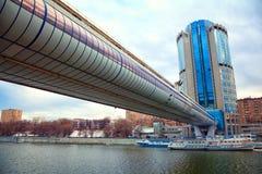 Moscou - 9 de março: Moscou-cidade do centro de negócios Fotos de Stock