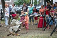 Moscou e os Muscovites nos tempos e nas épocas do festival imagens de stock royalty free