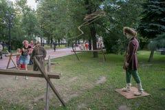 Moscou e os Muscovites nos tempos e nas épocas do festival fotografia de stock royalty free