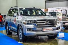MOSCOU - EM AGOSTO DE 2016: O cruzador 200 da terra de Toyota apresentou em MIAS Moscow International Automobile Salon o 20 de ag Foto de Stock