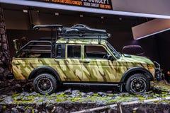 MOSCOU - EM AGOSTO DE 2016: O recolhimento de VAZ-2329 LADA 4x4 apresentou em MIAS Moscow International Automobile Salon o 20 de  Imagens de Stock Royalty Free