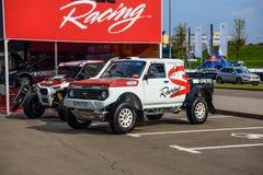 MOSCOU - EM AGOSTO DE 2016: O recolhimento de VAZ-2329 LADA 4x4 apresentou em MIAS Moscow International Automobile Salon o 20 de  Imagens de Stock