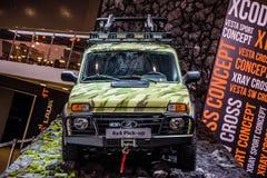 MOSCOU - EM AGOSTO DE 2016: O recolhimento de VAZ-2329 LADA 4x4 apresentou em MIAS Moscow International Automobile Salon o 20 de  Fotografia de Stock