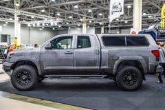 MOSCOU - EM AGOSTO DE 2016: A tundra 4x4 de Toyota apresentou em MIAS Moscow International Automobile Salon o 20 de agosto de 201 Imagem de Stock