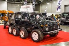 MOSCOU - EM AGOSTO DE 2016: VAZ 2131 4x4 de LADA apresentou em MIAS Moscow International Automobile Salon o 20 de agosto de 2016  Imagens de Stock