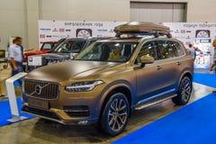 MOSCOU - EM AGOSTO DE 2016: Volvo XC-90 apresentou em MIAS Moscow International Automobile Salon o 20 de agosto de 2016 em Moscou Imagem de Stock