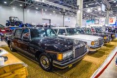 MOSCOU - EM AGOSTO DE 2016: ZIL 41041 apresentou em MIAS Moscow International Automobile Salon o 20 de agosto de 2016 em Moscou,  imagem de stock royalty free
