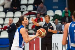 Dynamo en avant Svetlana Abrosimova (numéro 25) Photos libres de droits