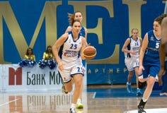 Dynamo en avant Svetlana Abrosimova (numéro 25) Images libres de droits