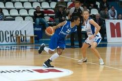Dynamo-GUVD Novosibirsk Nicole Yvonne Turner (22) de défenseur Photo stock