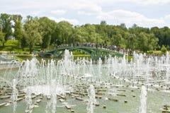 Moscou, fontaines dans Tsaritsino Photo libre de droits