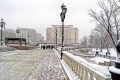 moscou Horizontal de l'hiver Photographie stock libre de droits