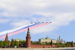 Moscou Kremlin du quai de Sofia en hommage à la victoire Photographie stock libre de droits