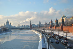 Moscou Kremlin en hiver Photographie stock libre de droits