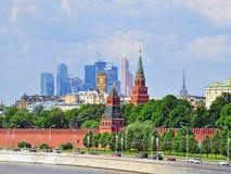 Moscou Kremlin et secteur de Moscou-ville Photographie stock