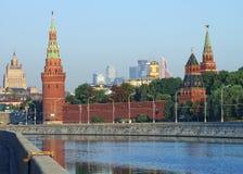 Moscou Kremlin et vue d'horizon Image libre de droits