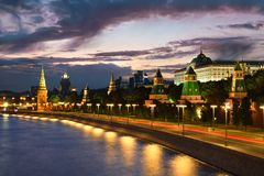 Moscou Kremlin, remblai a de Kremlin photographie stock
