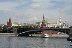 Moscou, Kremlin, rivière de Moscou image stock