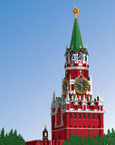Moscou Kremlin.Russia.Iillustration Imagens de Stock Royalty Free