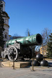 Moscou Kremlin Site de patrimoine mondial de l'UNESCO Le Roi Cannon Image libre de droits