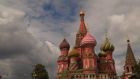 Moscou Kremlin, St Basil Cathedral banque de vidéos