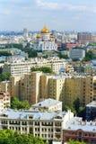 Moscou la cathédrale du Christ le sauveur Image libre de droits