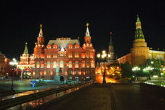 Moscou la nuit Image stock