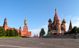 Moscou. La zone rouge. Images stock
