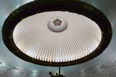Moscou, musée central de la grande guerre patriotique sur la colline de Poklonnaya Une illustration 3d de hall vide avec les ride Photo libre de droits