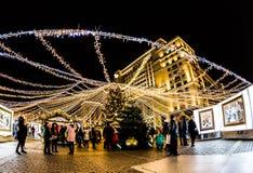 MOSCOU, Noël juste à la place de Manege Photos libres de droits