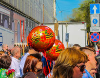 Moscou o 9 de maio Imagens de Stock Royalty Free