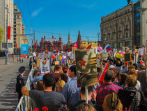 Moscou o 9 de maio foto de stock
