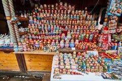 Moscou - 22 04 2017: O mercado no Kremlin de Izmailovsky, Moscou imagens de stock