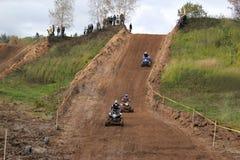 MOSCOU OBLAST, RUSSIE - 24 SEPTEMBRE : Sport de motocross, spectaculaire et extrême, vélo de emballage tous terrains ATV Russie,  Photos libres de droits