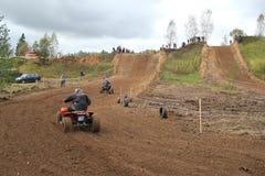 MOSCOU OBLAST, RUSSIE - 24 SEPTEMBRE : Sport de motocross, spectaculaire et extrême, vélo de emballage tous terrains ATV Russie,  Photo stock