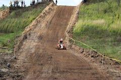 MOSCOU OBLAST, RUSSIE - 24 SEPTEMBRE : Sport de motocross, spectaculaire et extrême, vélo de emballage tous terrains ATV Russie,  Photographie stock
