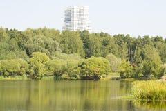 Moscou, parque Pokrovskoye-Streshnevo-Glebovo Foto de Stock Royalty Free