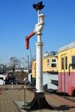 Moscou, Rússia - 1º de abril 2017 Boca de incêndio para abastecer locomotivas com água no museu da história do transporte Railway fotografia de stock royalty free