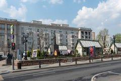 Moscou, Rússia - 27 de abril de 2019: Feira da mola no bulevar de Tverskoy fotos de stock