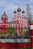 Moscou, Rússia - 30 de abril 2018 Templo do ícone de Tikhvin da mãe do deus Imagens de Stock