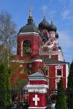 Moscou, Rússia - 30 de abril 2018 Templo do ícone de Tikhvin da mãe do deus Fotos de Stock Royalty Free
