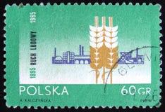MOSCOU, RÚSSIA - 2 DE ABRIL DE 2017: Um selo do cargo impresso no Polônia s Fotografia de Stock Royalty Free
