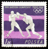 MOSCOU, RÚSSIA - 12 DE FEVEREIRO DE 2017: Um selo impresso pelo Polônia sh Imagens de Stock Royalty Free