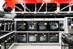 Moscou, Rússia - 20 de fevereiro de 2018 Os fornos e os hobs bondes na eletrônica armazenam o eldorado imagens de stock