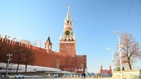 Moscou, Rússia - 18 de fevereiro 2016 Vista do Kremlin de Vasilyevsky Spusk vídeos de arquivo