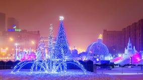 MOSCOU, RÚSSIA 16 DE JANEIRO DE 2017: Decoração festiva do Natal de fotos de stock royalty free